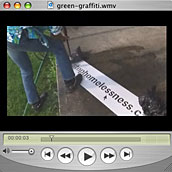 green graffiti clip