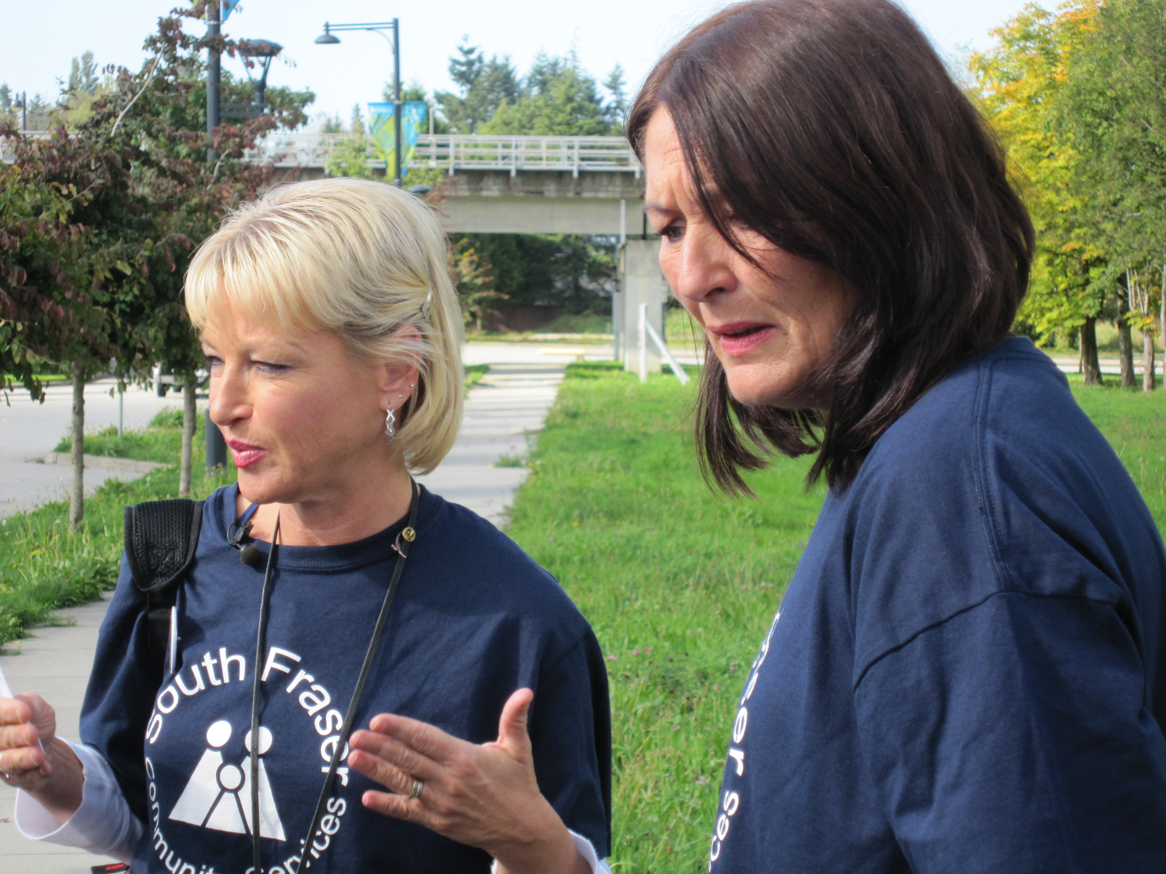 Outreach Workers Answer Media Questions at Launch of Week
