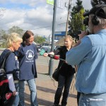 Walkabout With Media at Launch of Homelessness Action Week