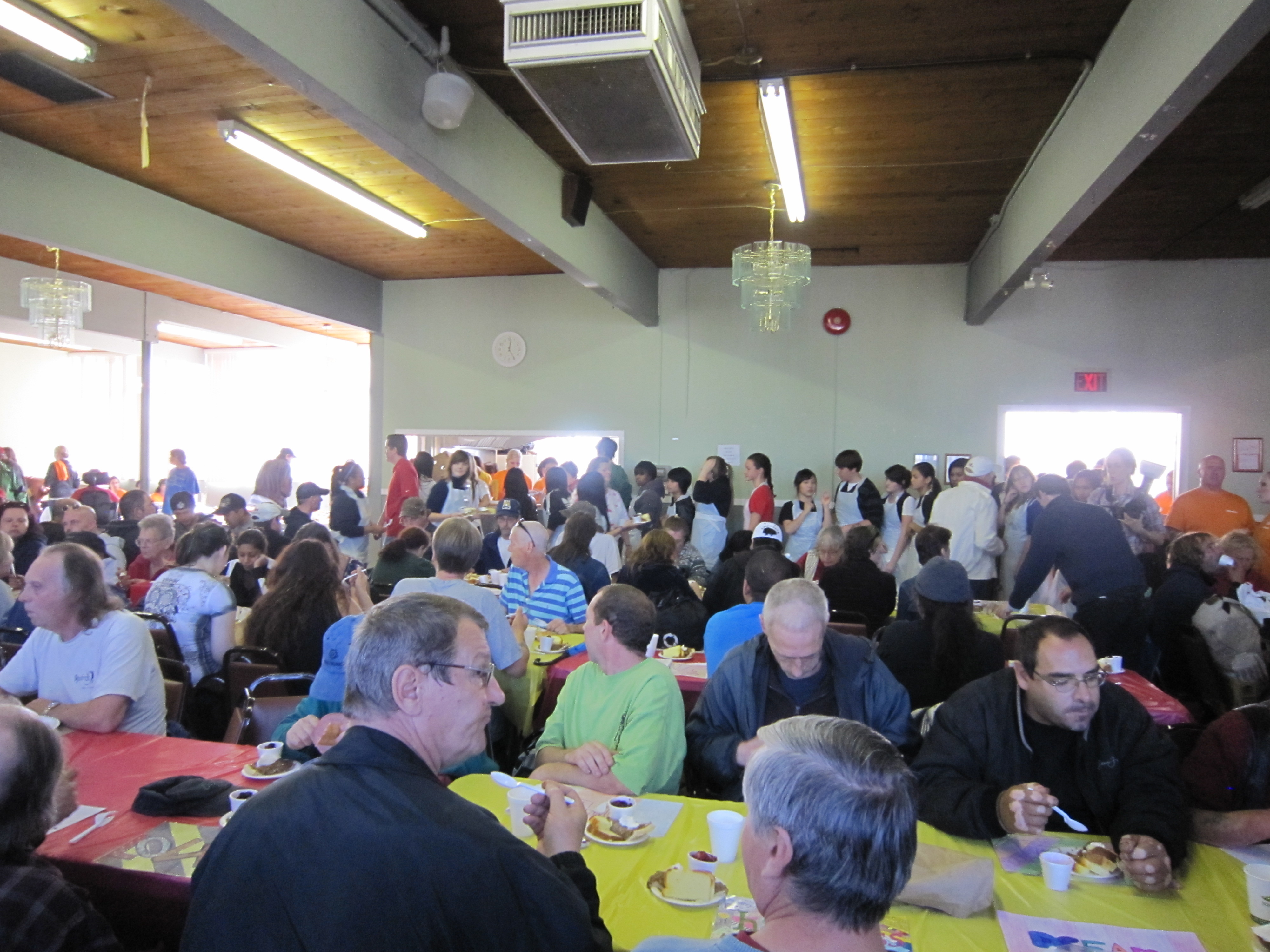 Lunch Time at Homeless Connect