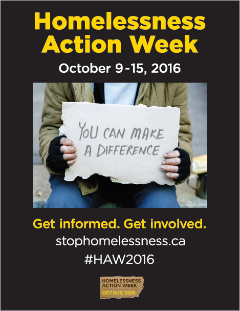 Homelessness Action Week, October 9-15, 2016